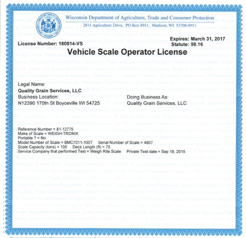 Vehicle Scale Operator